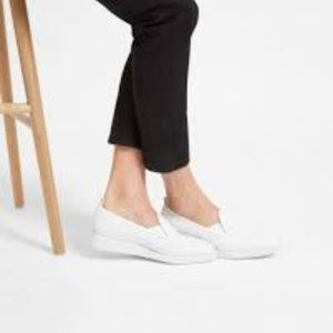 Everlane Perforated White Leather Street Shoe NEW